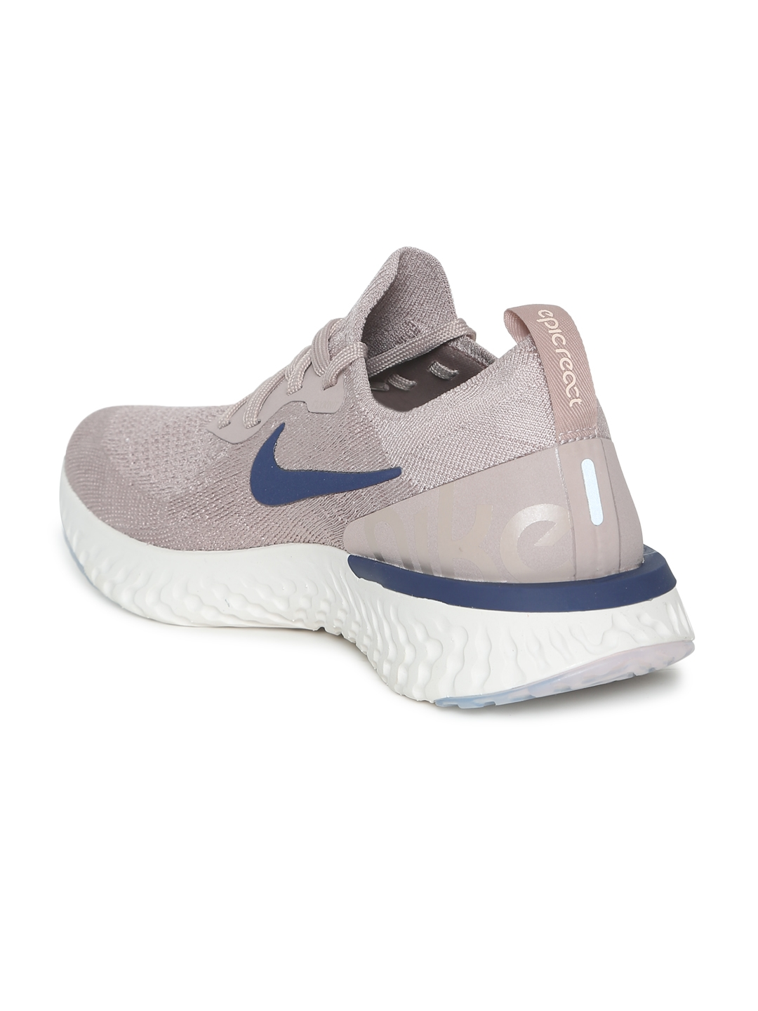 f55a8d13ac0 Buy Nike Men Taupe Epic React Flyknit Running Shoes - Sports Shoes ...