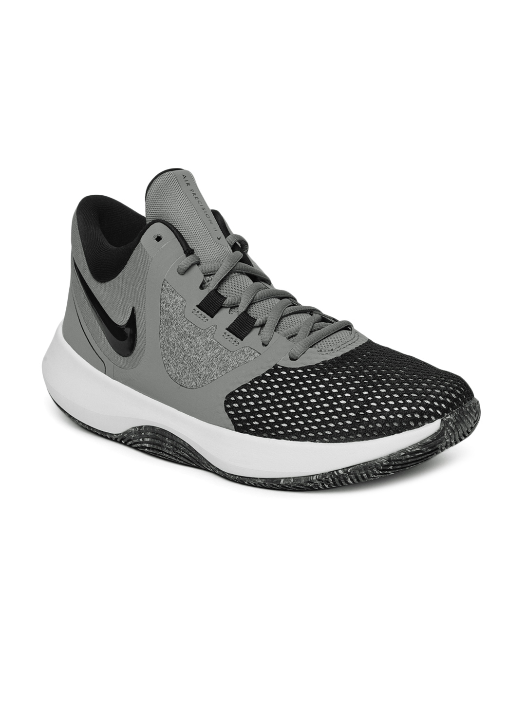4fd497eb4bb15a Buy Nike Men Black AIR PRECISION II Mid Top Basketball Shoes ...