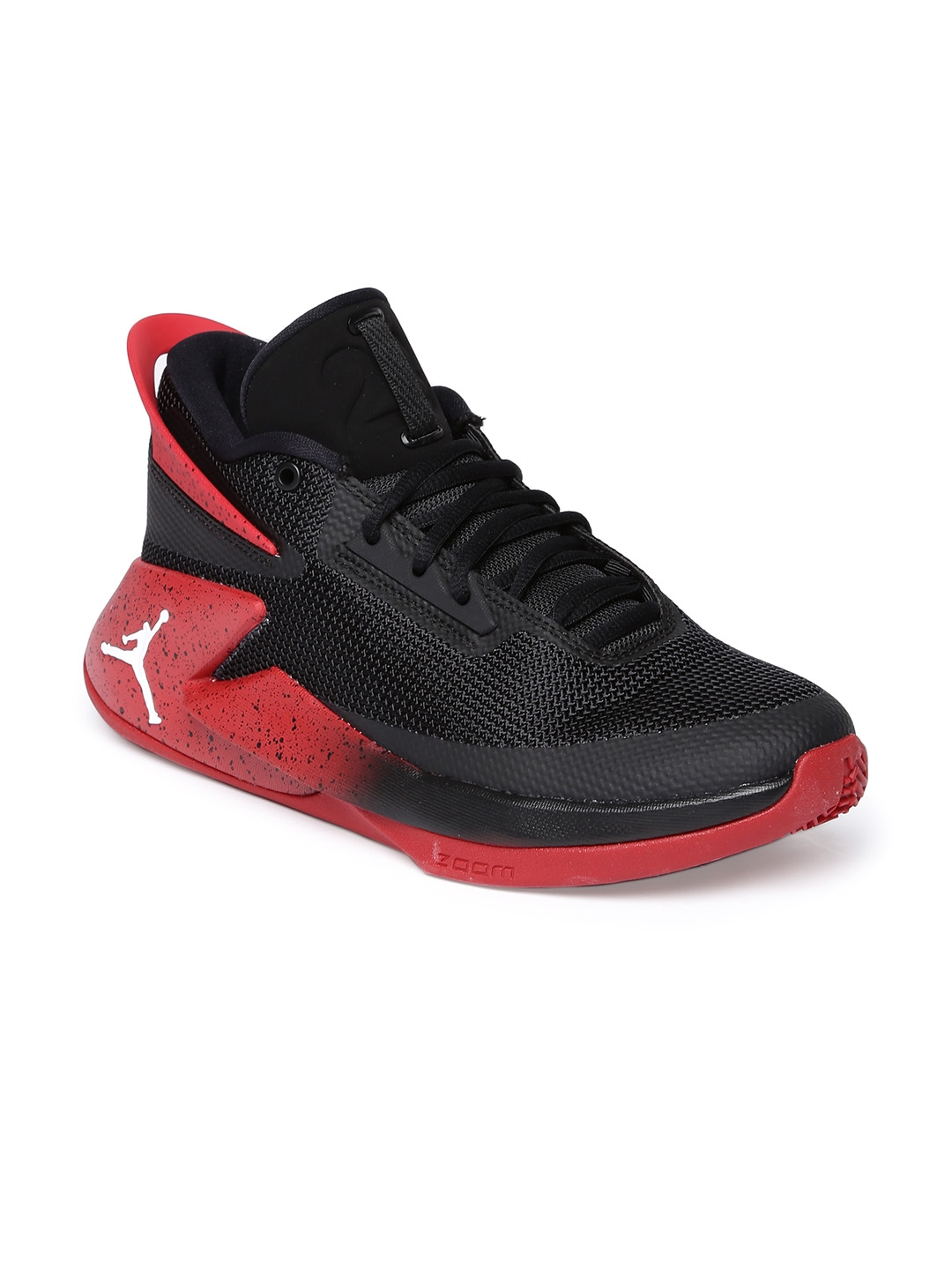 68bfb3003703 Buy Nike Men Black   Red Jordan Fly Lockdown Basketball Shoes ...