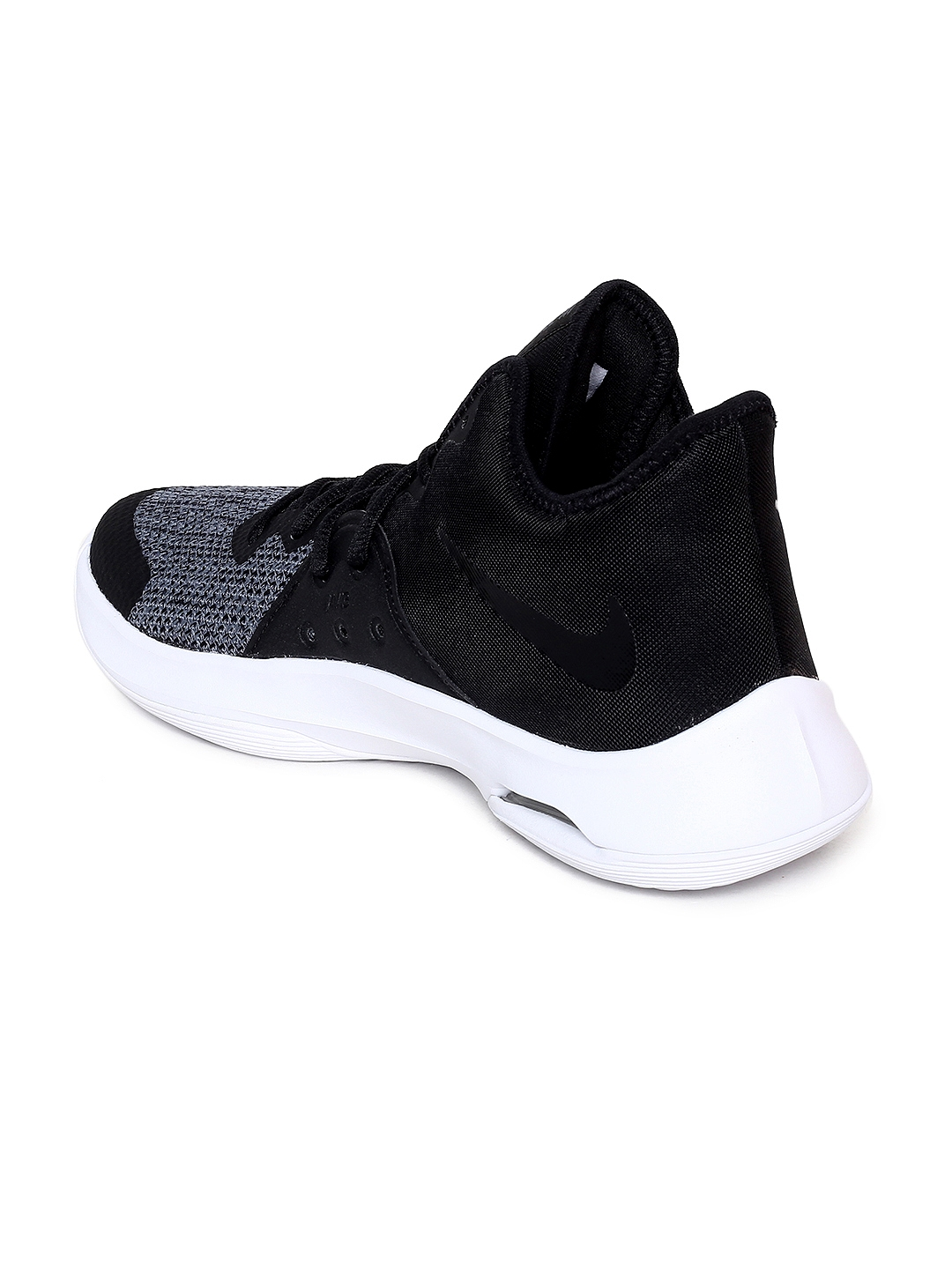 bb5670dbd9ea Nike Unisex Black   Grey Textile Mid-Top Air Versitile III Basketball Shoes