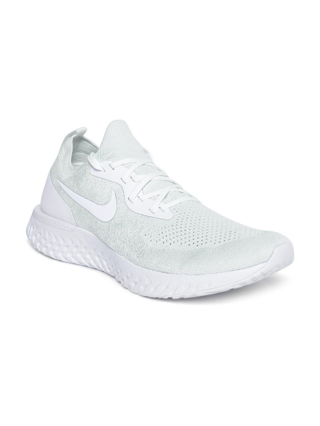 04d9960402ebd Buy Nike Men White Epic React Flyknit Running Shoes - Sports Shoes ...