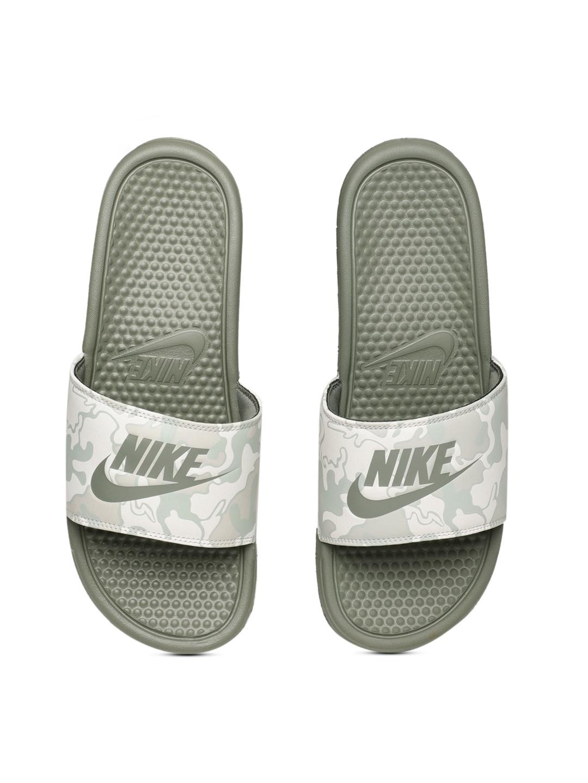 928b76b95ba Buy Nike Men Olive Green Printed Sliders - Flip Flops for Men ...