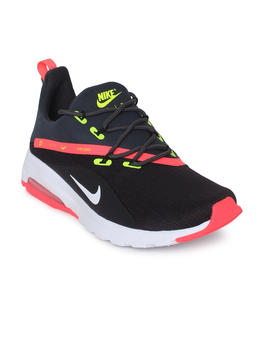 28ffabb5af Buy Nike Men Black Solid Air Max Motion Racer 2 Running Shoes ...
