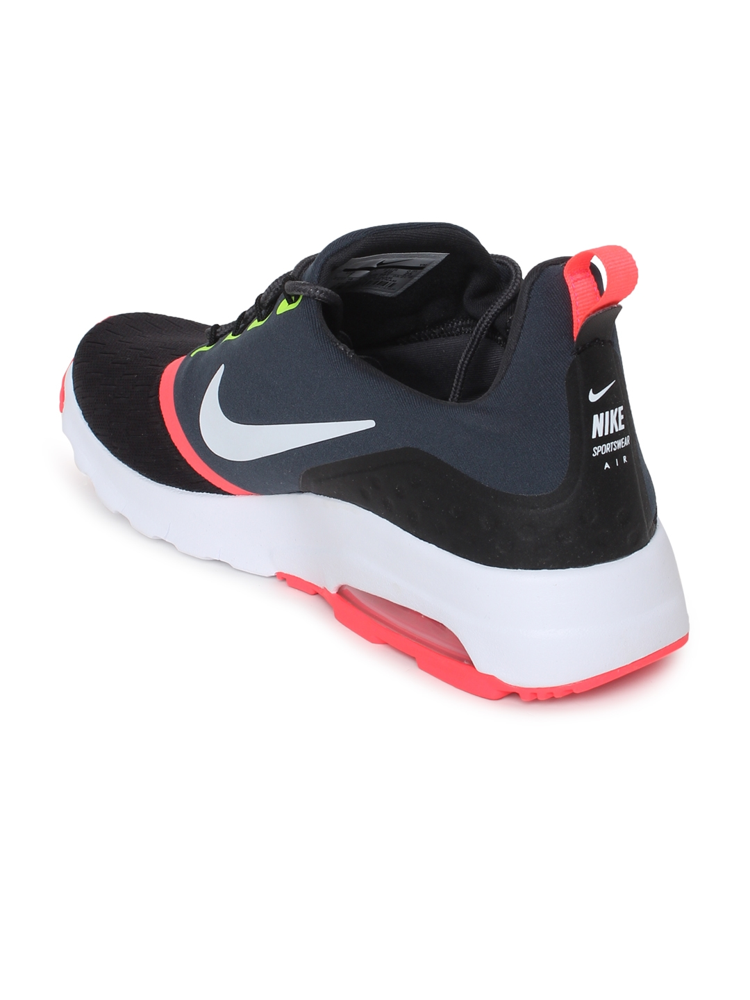 low priced 03fe9 252ad Nike Men Black Solid Air Max Motion Racer 2 Running Shoes