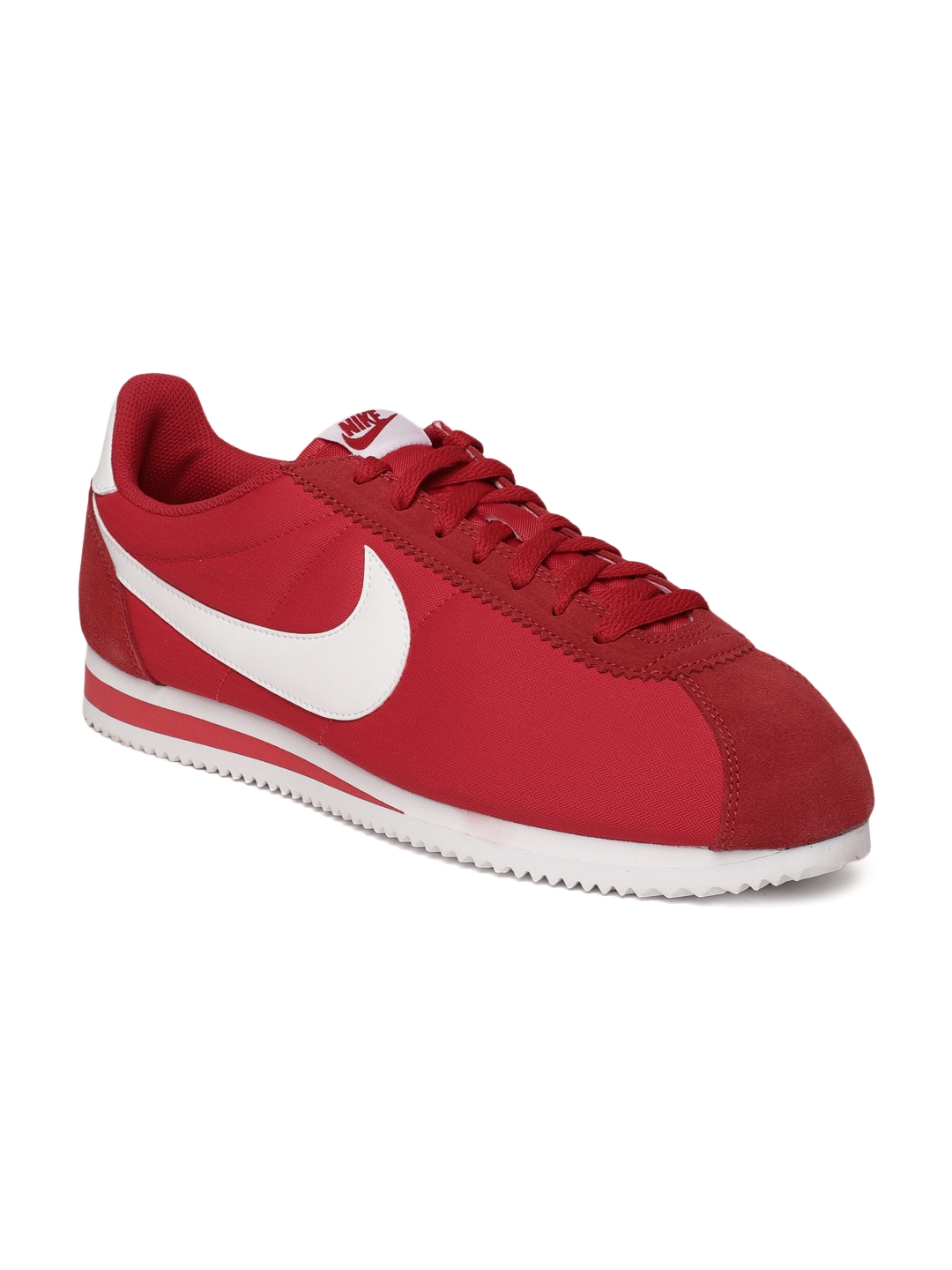 buy popular 1d9df 804a6 Buy Nike Men Red Classic Cortez Nylon Casual Shoes - Casual Shoes ...