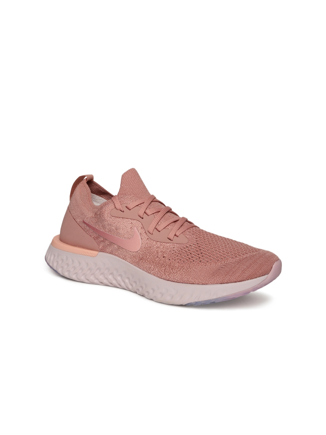 more photos b6873 7779c Nike Women Pink Epic React Flyknit Running Shoes