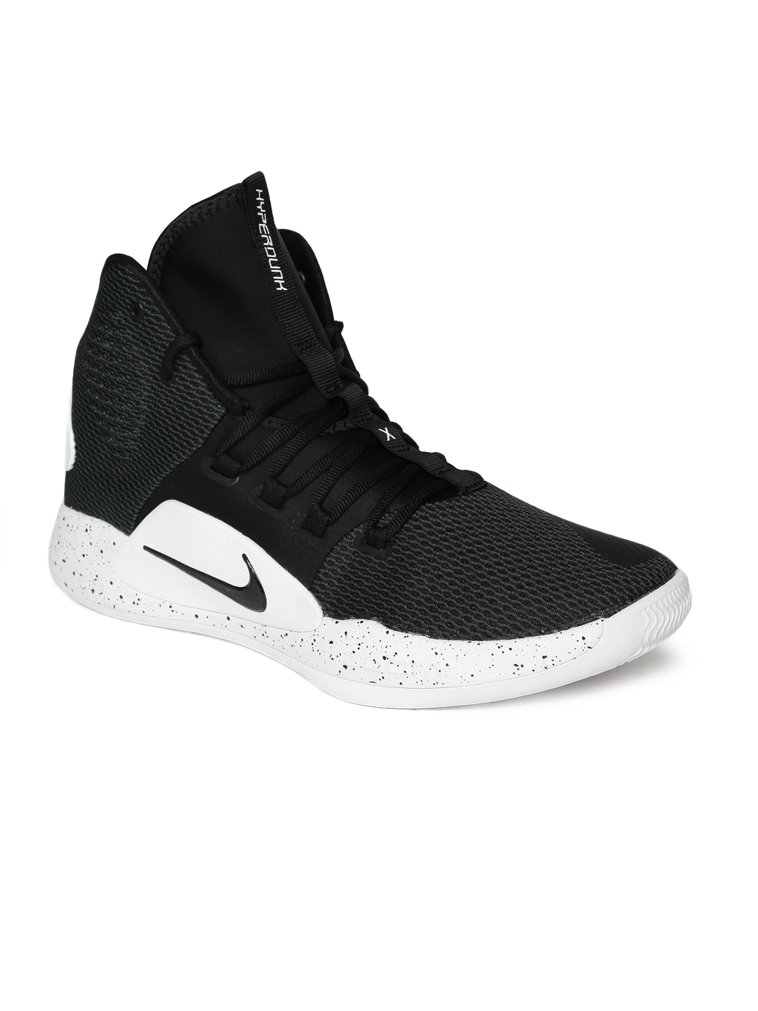 buy popular 01159 e083d Nike Men Black Hyperdunk X Mid-Top Basketball Shoes