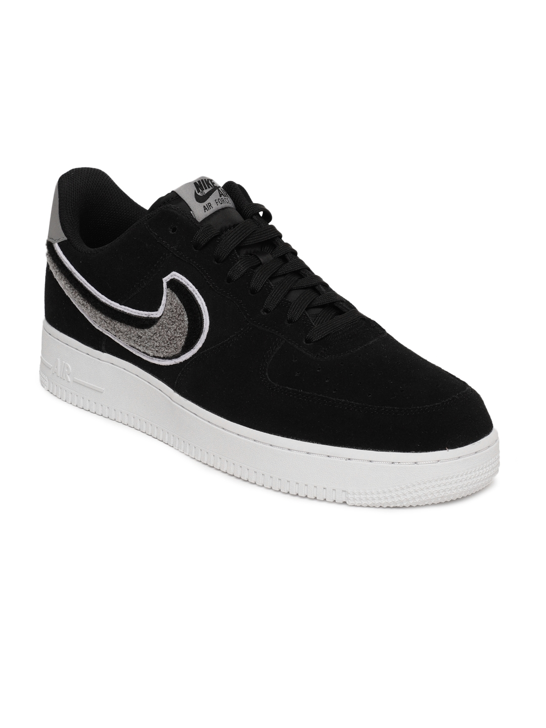 8b266f502fc0 Buy Nike Men Black Air Force 1  07 LV8 Suede Basketball Shoes ...
