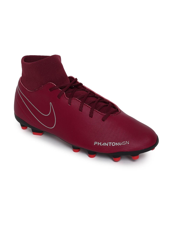 4f2a75aeb951 Buy Nike Unisex Maroon Solid Obra 3 Club High Top Football Shoes ...