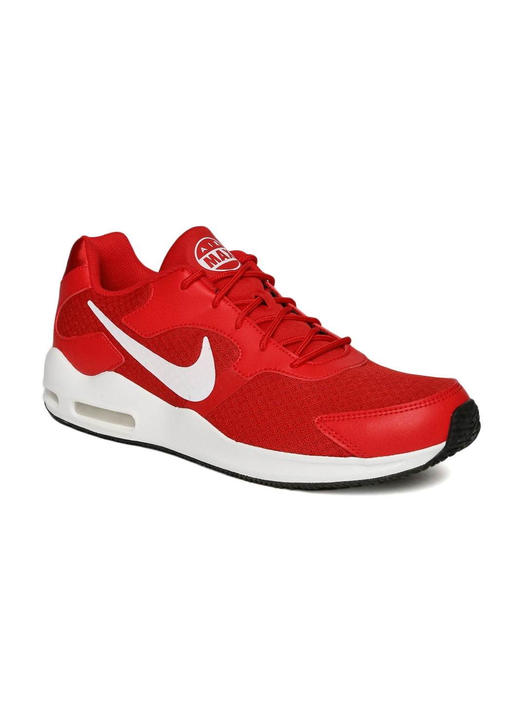 check out 89ba2 4e77d Nike Men Red Air Max Guile Sneakers