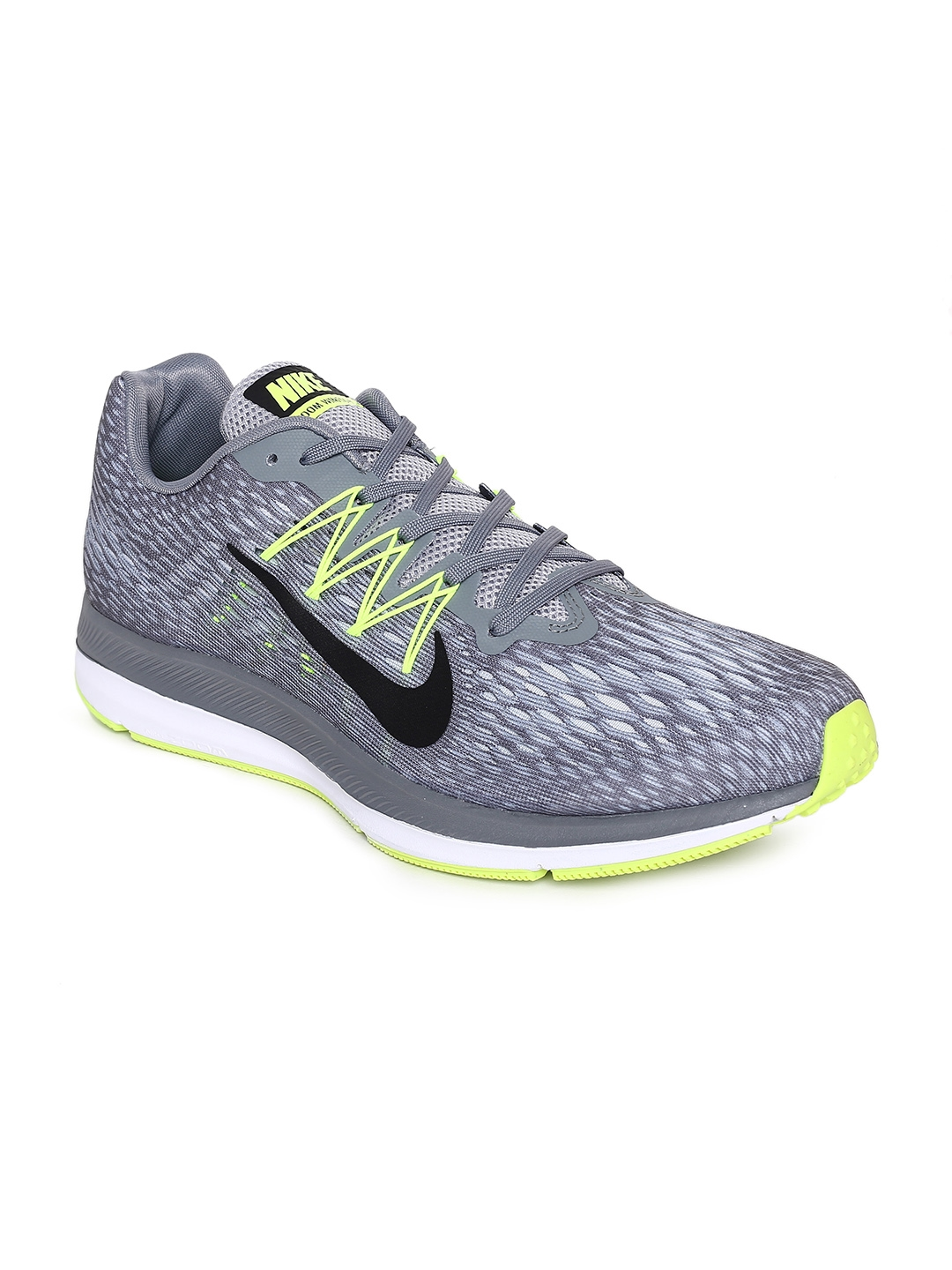 new style 43a92 1cd8b Nike Men Grey Air Zoom Winflo 5 Running Shoes