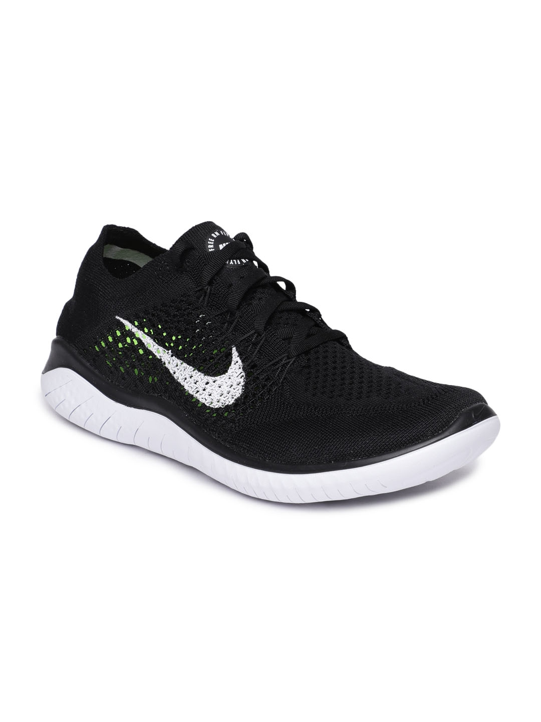 566590864832 Buy Nike Women Black Free RN Flyknit 2018 Running Shoes - Sports ...