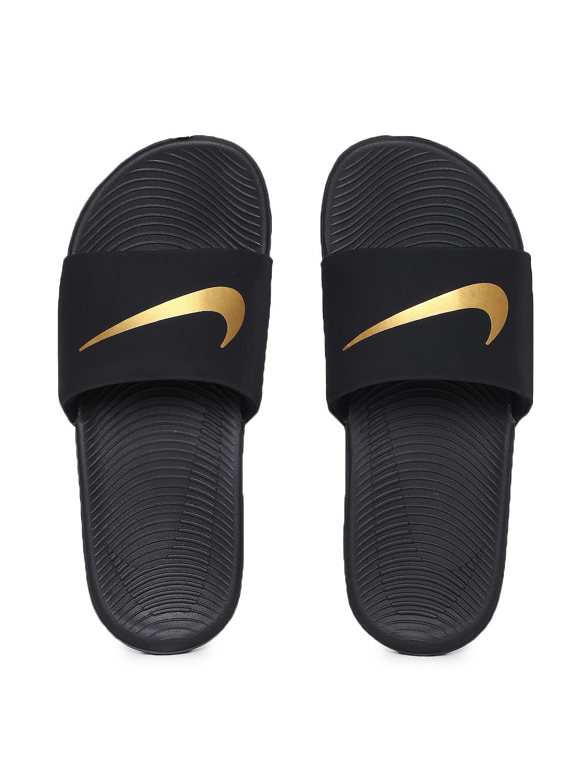 ac5007fe3 Buy Nike Boys Black Solid Sliders NIKE KAWA SLIDE (GS PS) - Flip ...