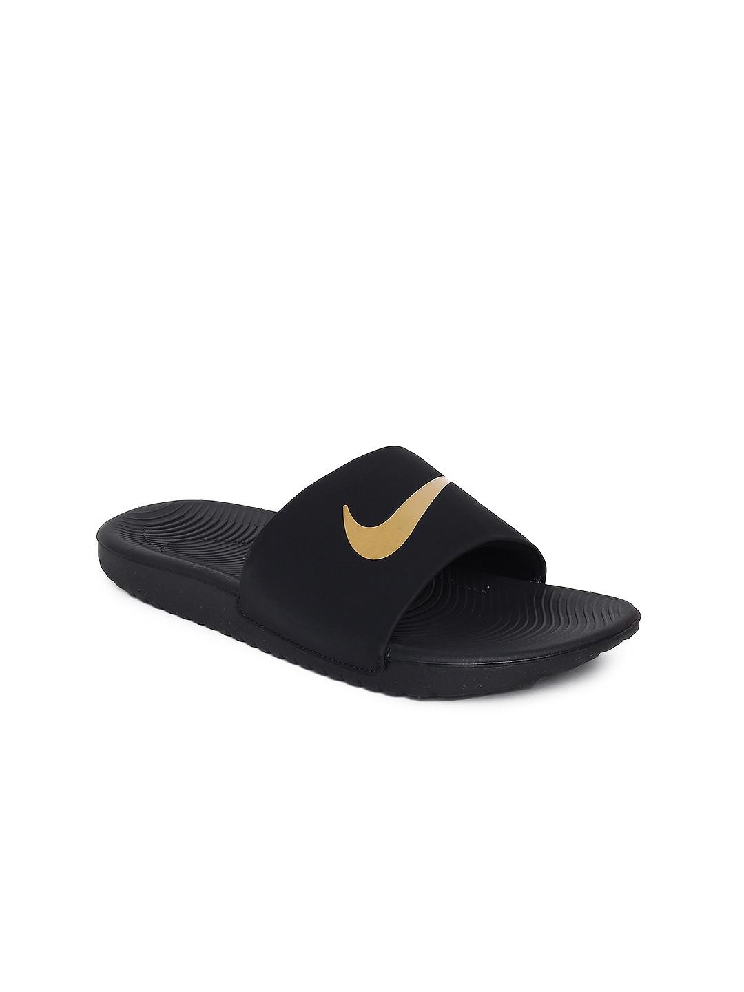 01985b2de971 Buy Nike Boys Black Solid Sliders NIKE KAWA SLIDE (GS PS) - Flip ...