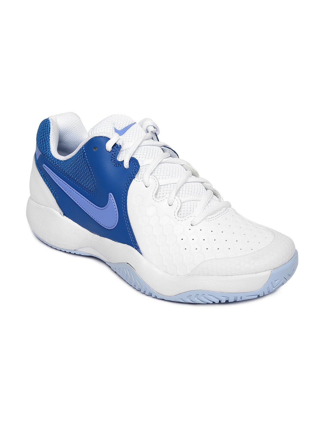 best sneakers 60755 4e5ab Nike Women White   Blue NIKE AIR ZOOM RESISTANCE Tennis Shoes