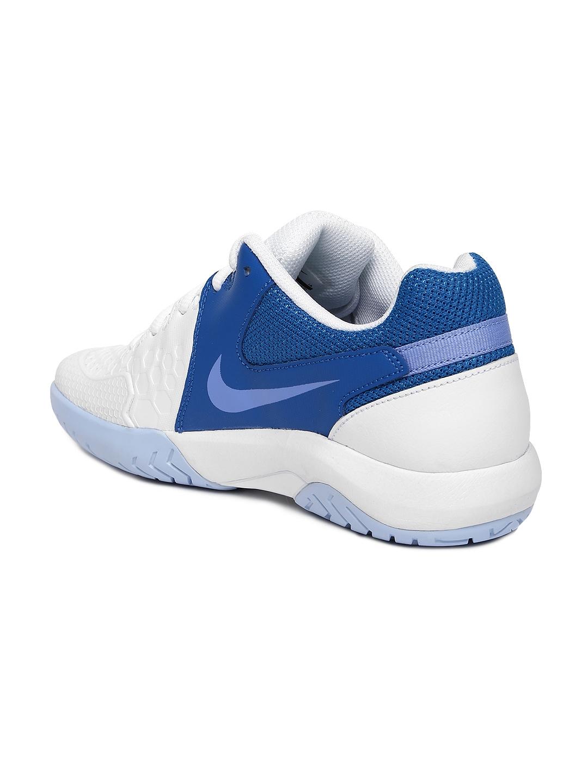 best sneakers 947d4 8dfba Nike Women White   Blue NIKE AIR ZOOM RESISTANCE Tennis Shoes