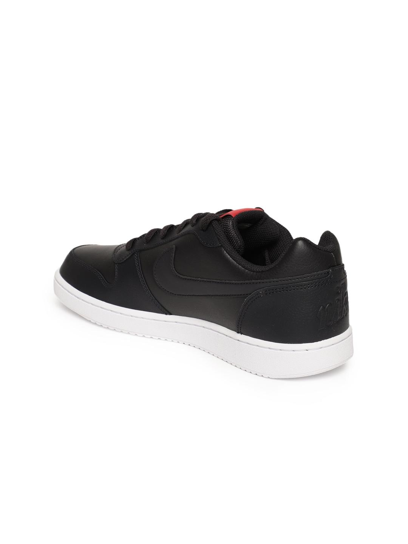 super popular 62165 a8d8c Nike Men Black EBERNON LOW Leather Sneakers