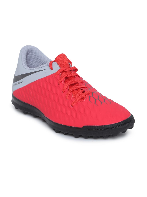 best service 71a7b 8b599 Nike Unisex Red HYPERVENOM 3 CLUB TF Football Shoes