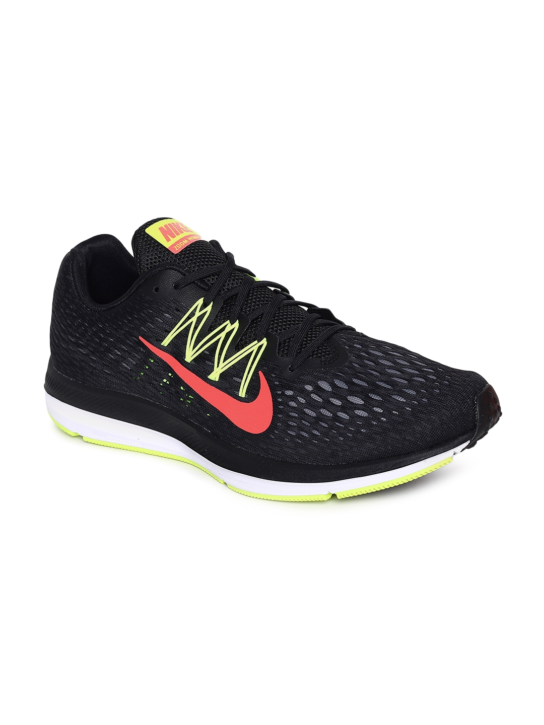 050be9c0b1a Buy Nike Men Black Air Zoom Winflo 5 Running Shoes - Sports Shoes ...