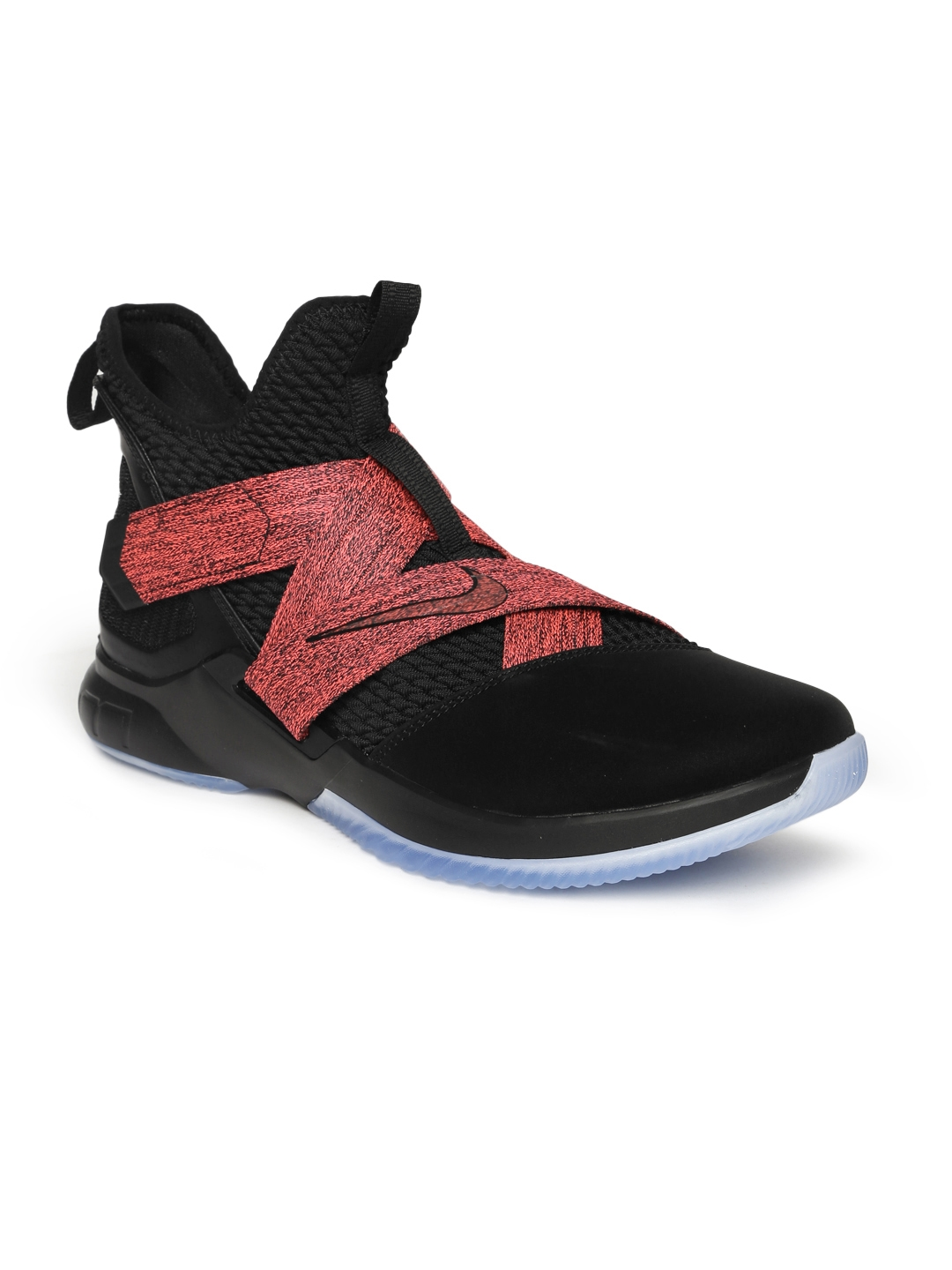 6bab1dc6a204 Buy Nike Men Black   Pink Lebron Soldier XII Mid Top Basketball ...