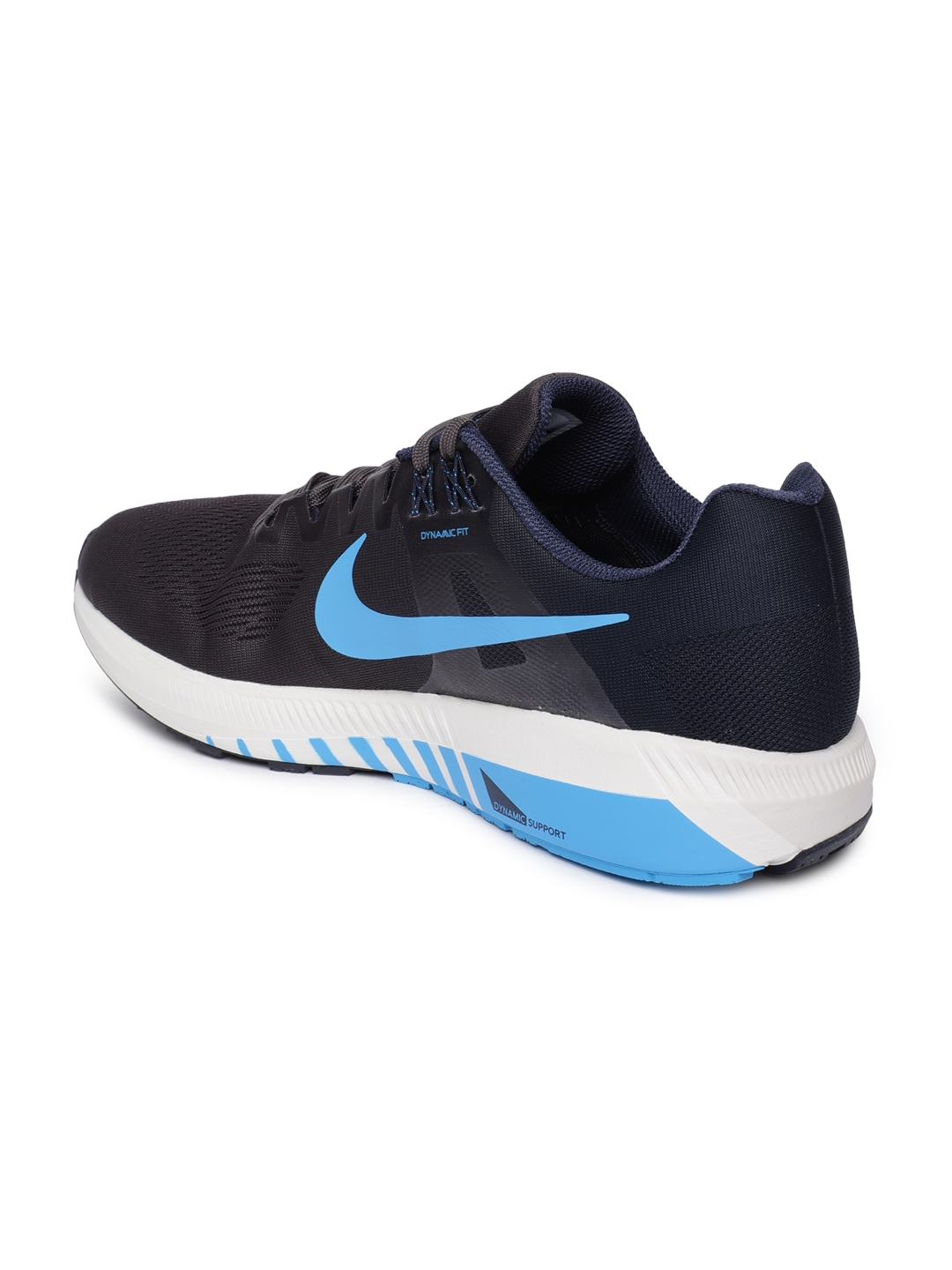1f6d40837ba7a Buy Nike Men Grey AIR ZOOM STRUCTURE 21 Running Shoes - Sports Shoes ...