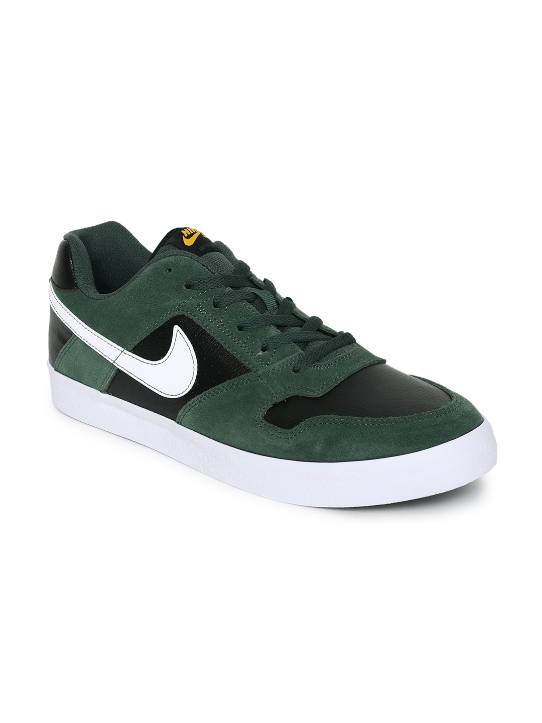 quality design f465c 260f6 Nike Men Green DELTA FORCE VULC Leather Skateboarding Shoes