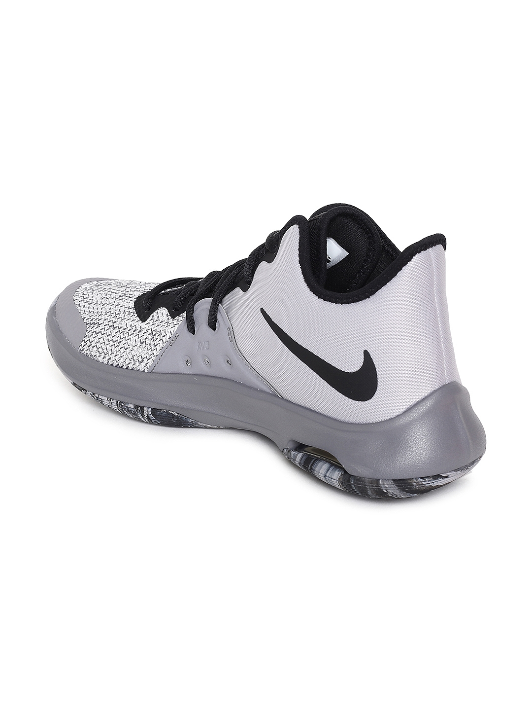 383c0e0a1cb4 Nike Unisex Grey Solid Textile AIR VERSITILE III Mid-Top Basketball Shoes