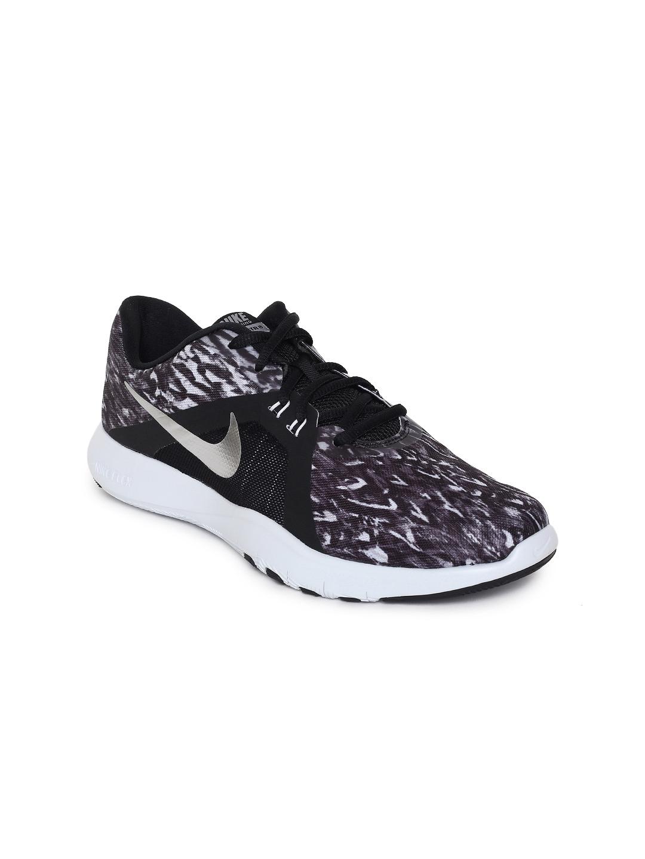 df6fdc373eea Buy Nike Women Black   Purple Flex TRAINER 8 Training Shoes - Sports ...