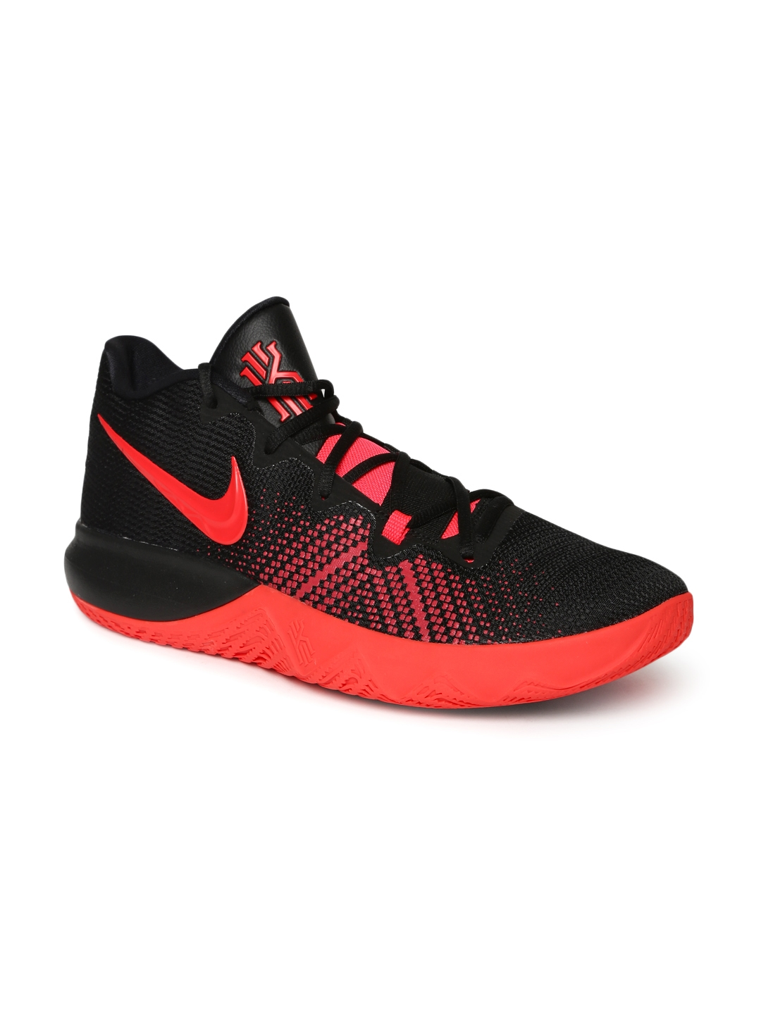 sale retailer 764f2 bc3f9 Nike Men Black Textile High-Top KYRIE FLYTRAP Basketball Shoes