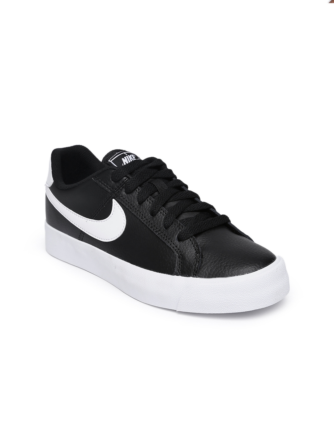 online store cceef c1eaf Nike Women Black Court Royale Leather Sneakers