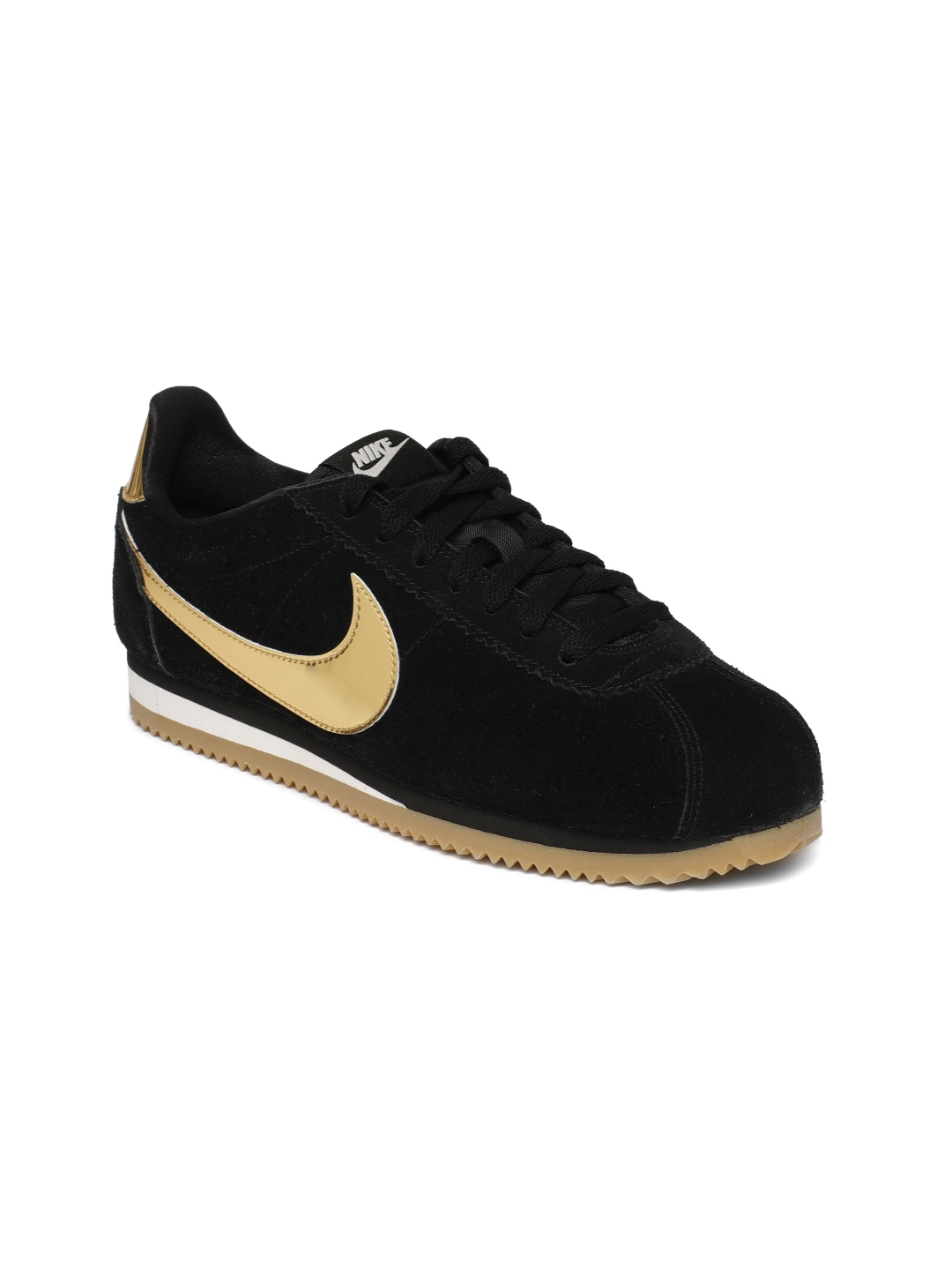 quite nice 9b22b 0f8b9 Nike Women Black Suede Classic Cortez SE Sneakers