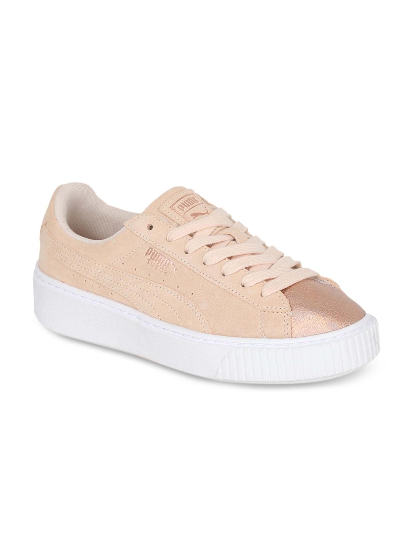 36a51c09b628 Buy Puma Suede Platform LunaLux Wn S Women Peach Coloured Sneakers ...