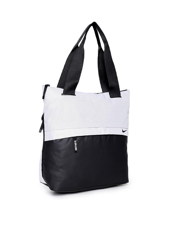 750e843bf6c5 Buy Nike Black   Grey Colourblocked RADIATE Tote Bag - Handbags for ...
