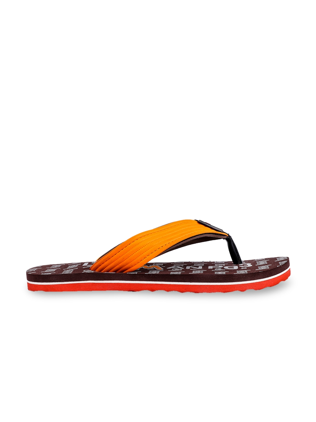 73203d110538 Buy Lawman Pg3 Men Brown   Orange Printed Thong Flip Flops - Flip ...