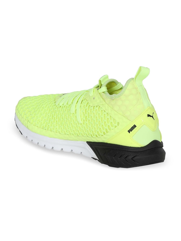 8f31ae8686ca Buy Puma Men Lime Green IGNITE Dual NETFIT Running Shoes - Sports ...