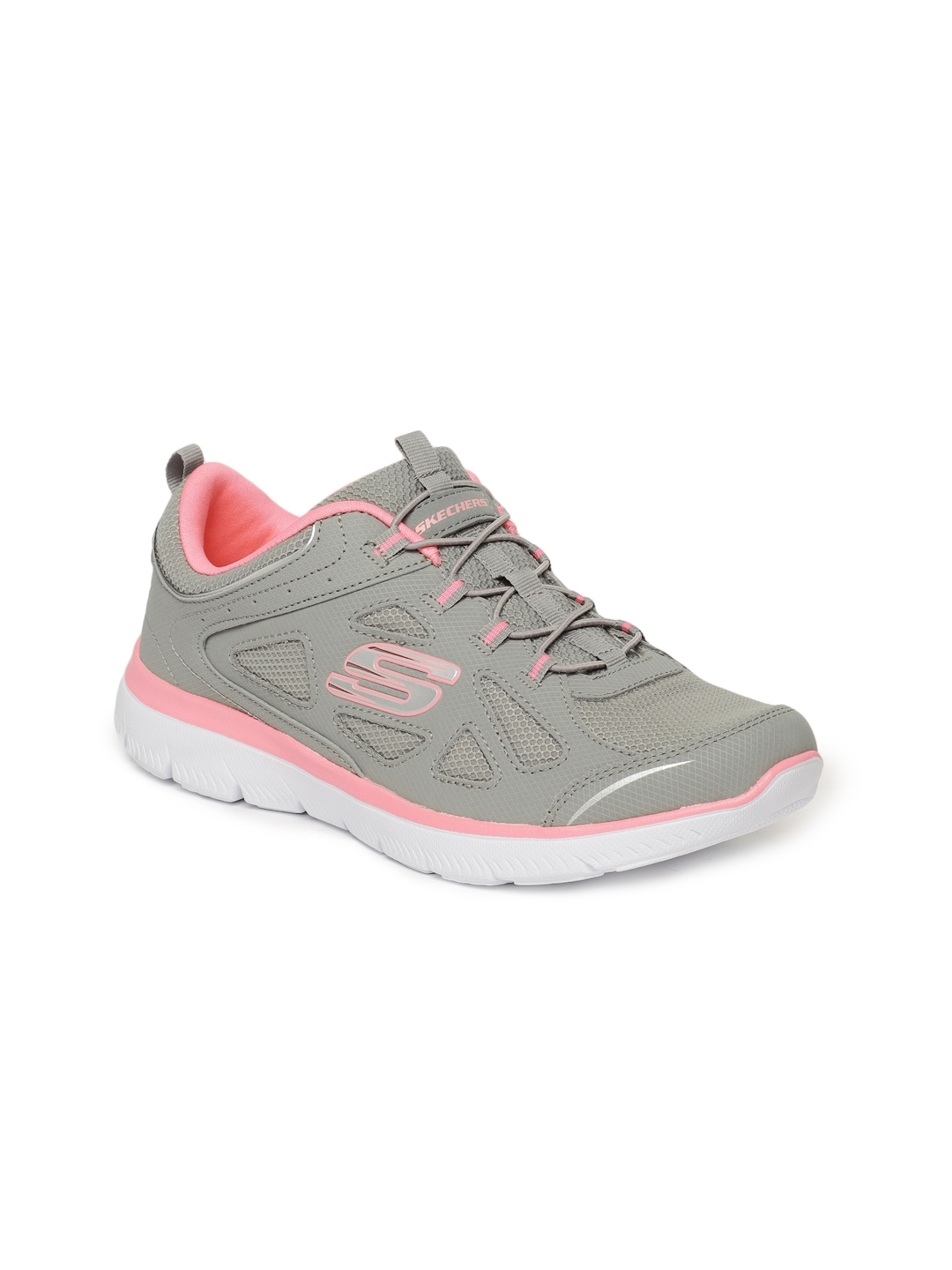 a2e88908ac6 Buy Skechers Women Grey Summits Built In Sneakers - Casual Shoes for ...