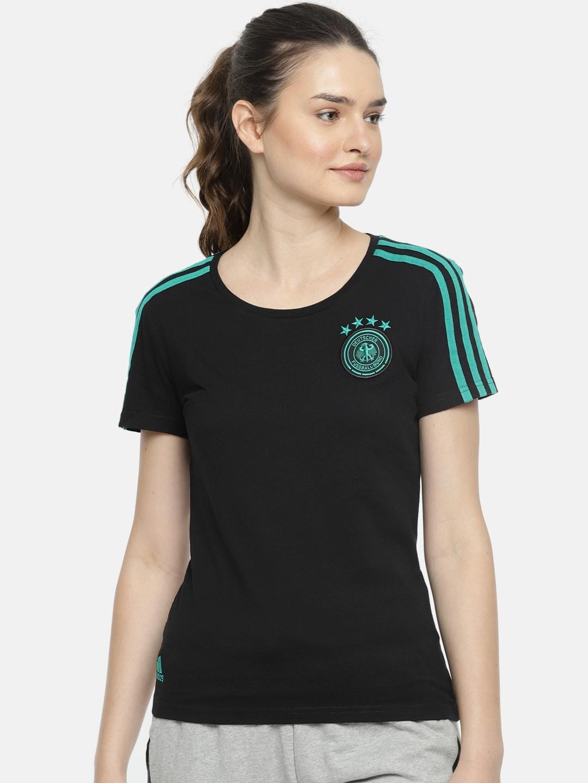 8149c2b419 Buy ADIDAS Women Black DFB Football T Shirt - Tshirts for Women ...