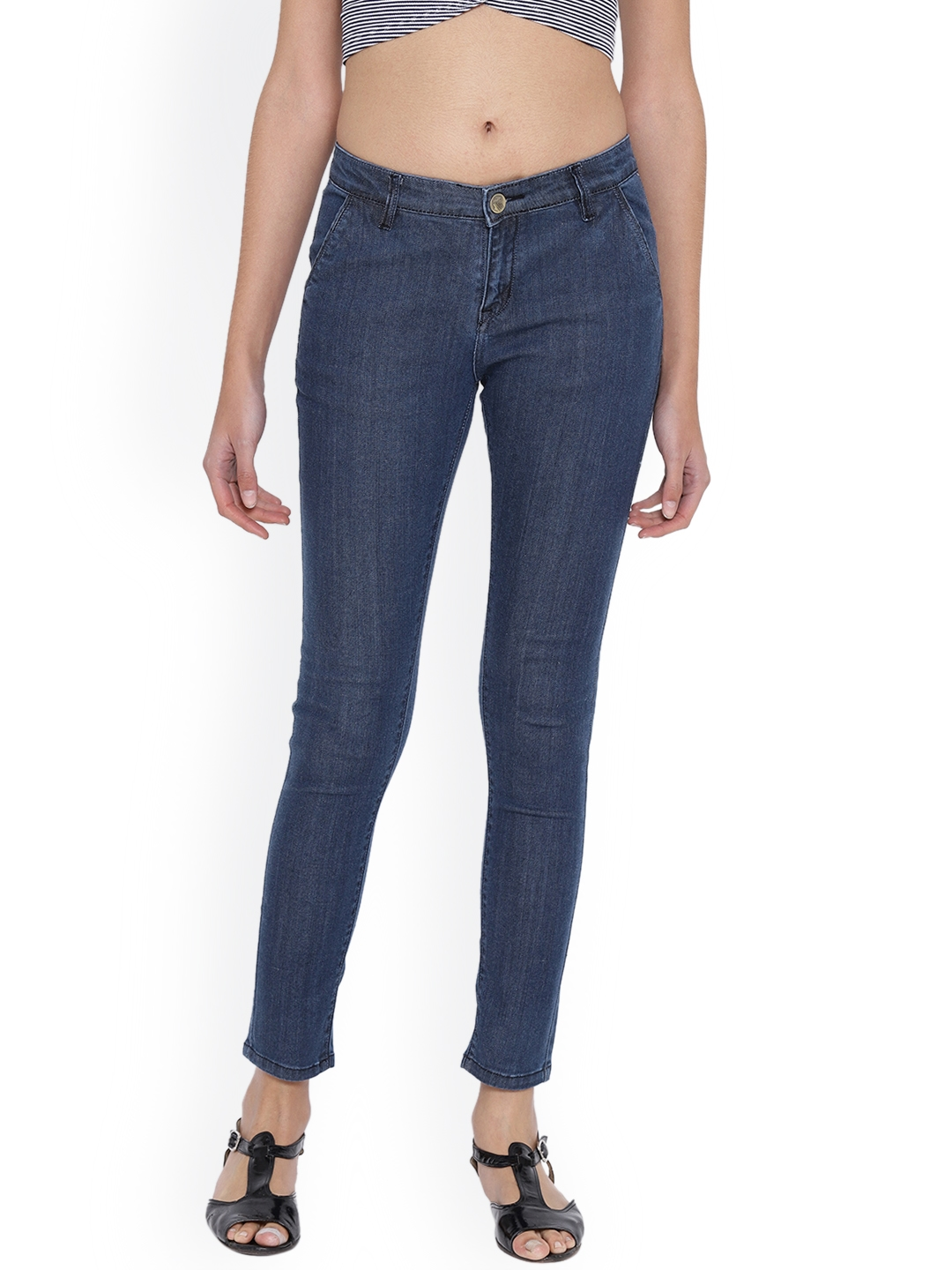 Fashion Cult Women Blue Slim Fit Mid Rise Clean Look Jeans
