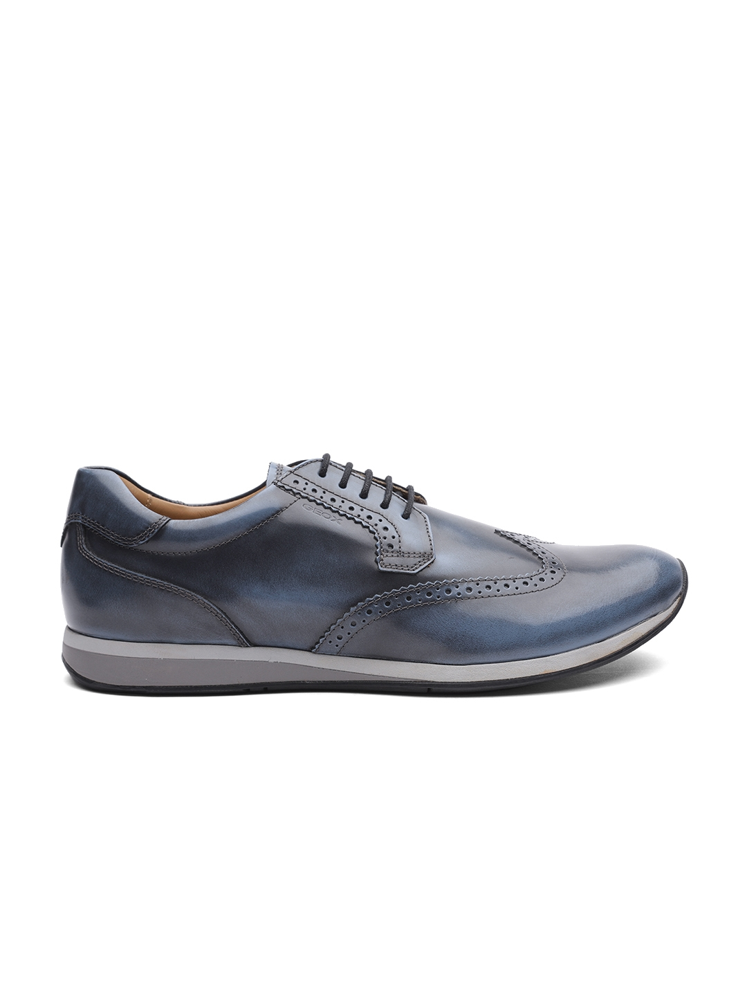 61d0ab8cd7 Buy Geox Men Blue Leather Textured Sneakers - Casual Shoes for Men ...