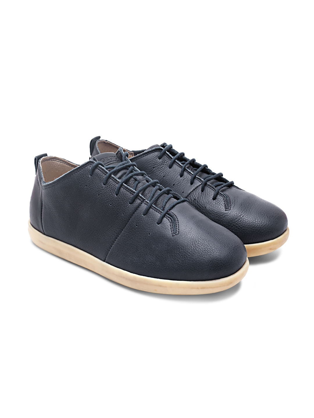 320c038140 Buy Geox Men Navy Blue Solid Leather Sneakers - Casual Shoes for Men ...