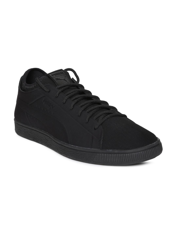 newest c0790 c959f Buy Puma Men Black Basket Classic Sock Lo Sneakers - Casual ...
