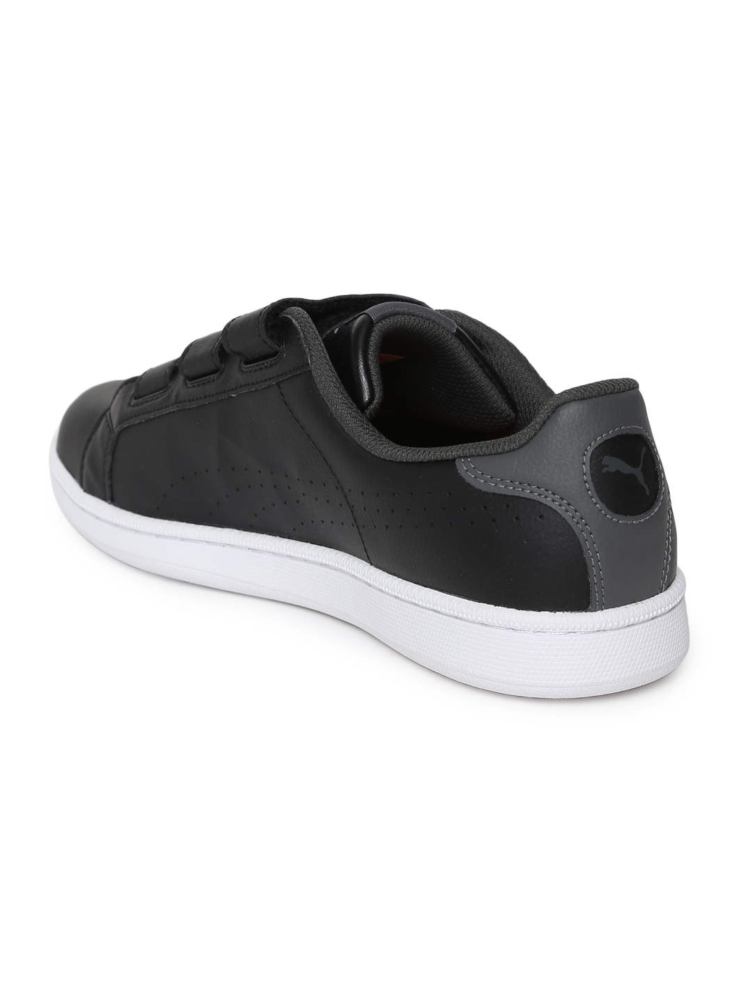be06569bd2e43a Buy Puma Men Black Smash Velcro IDP Leather Sneakers - Casual Shoes ...