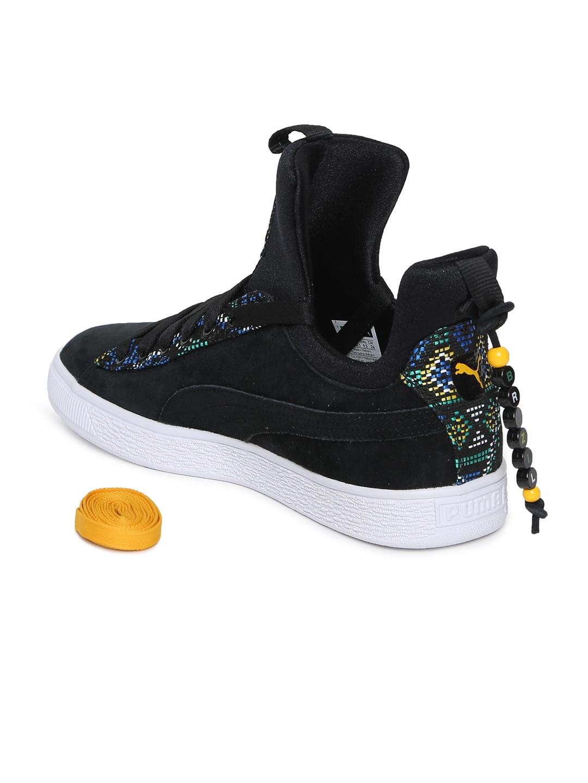 0f9fa7038945 Buy Puma Women Black Basket Fierce Carnvl Wn S FM Sneakers - Casual ...