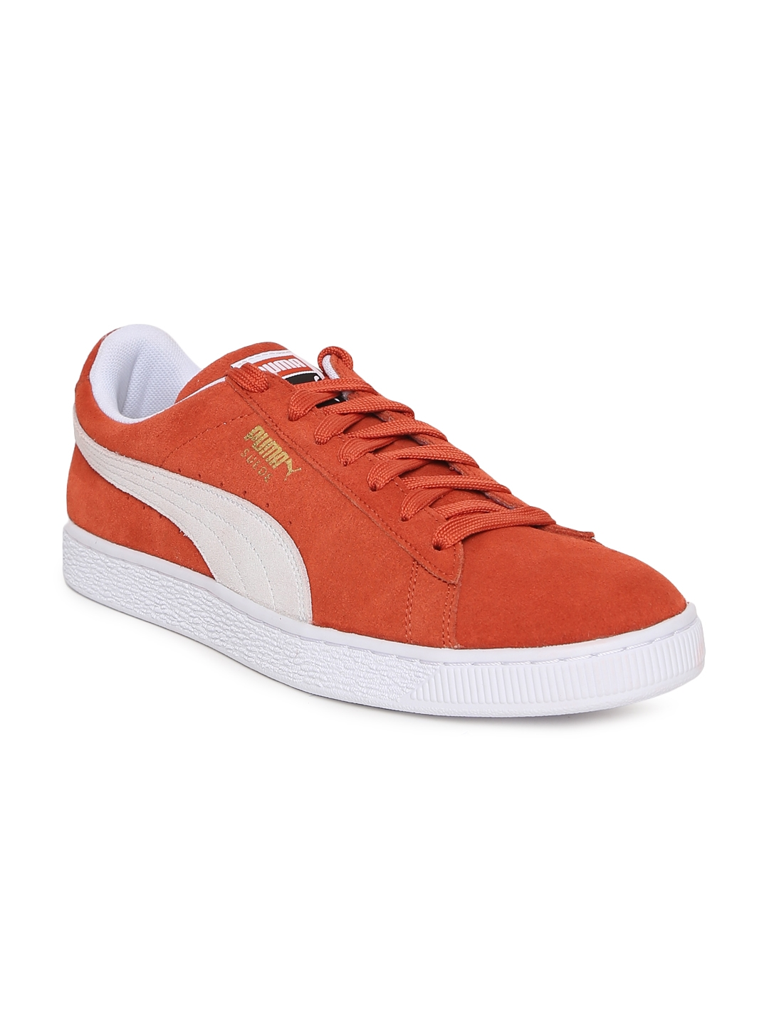 980ed185bae Buy Puma Unisex Orange Solid Suede Classic Sneakers - Casual Shoes ...