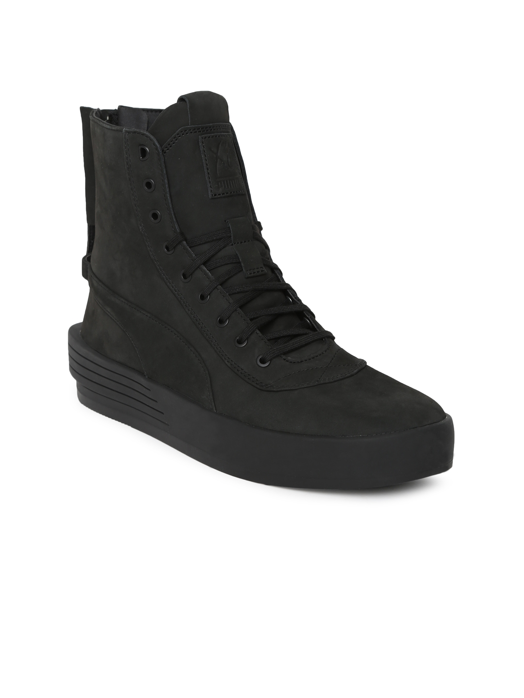 aaf1a37852d Buy Puma Unisex Black PUMA XO PARALLEL Leather High Top Sneakers ...