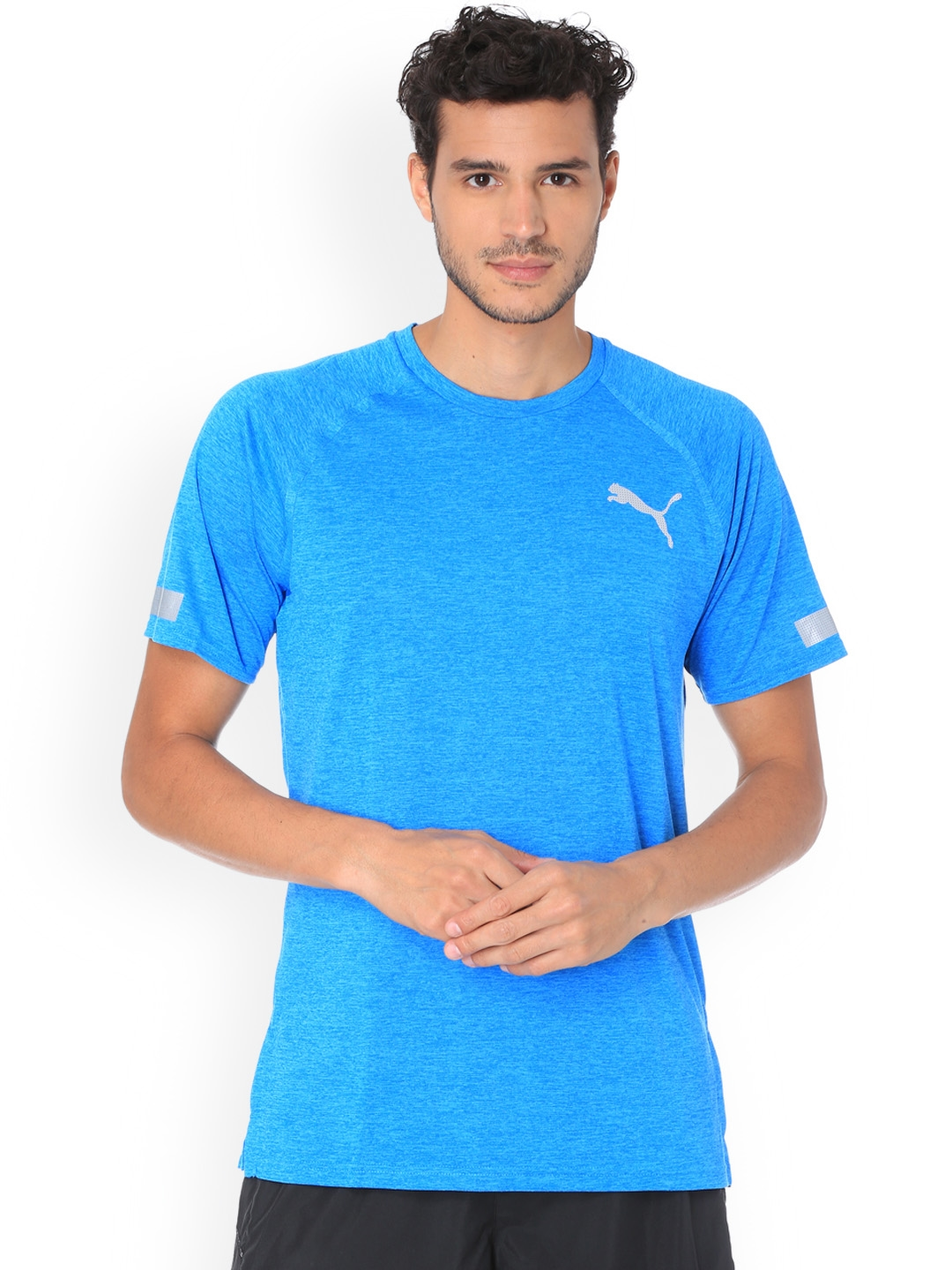 d77cafa4726de8 Buy Puma Men Blue Solid Round Neck BND Tech SS Tee T Shirt - Tshirts ...