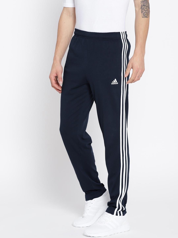 ab56de4edaf2 Buy ADIDAS Men Navy Essentials SJ 3 Stripes Training Track Pants ...