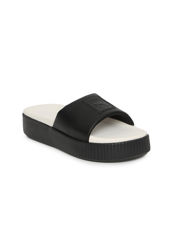 8fd134d631f Buy Puma Women Black Platform Slide Wns Sliders - Flip Flops for ...