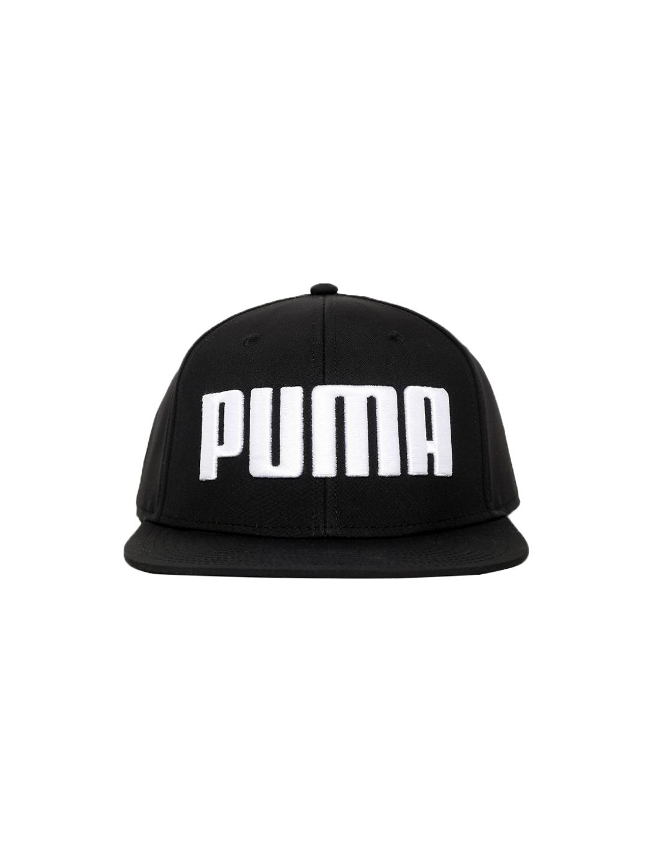 7e2cadb6f0a Buy Puma Unisex Black Self Design Flatbrim Cap - Caps for Unisex ...