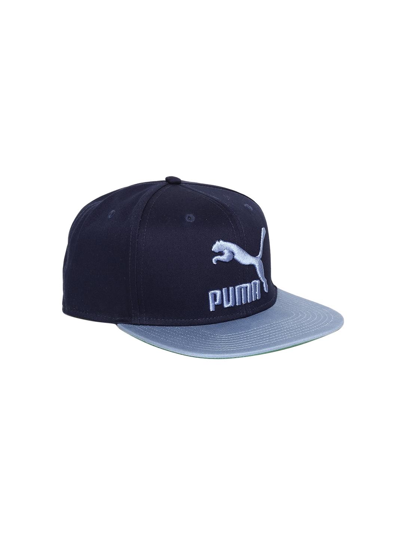 fcb33572539 Buy Puma Unisex Blue Self Design Snapback Cap - Caps for Unisex ...